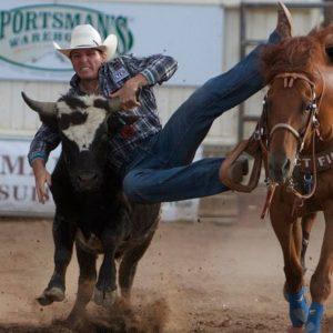 Steer Wrestling Dinosaur Roundup Rodeo