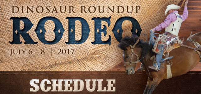 2017 Dinosaur Roundup Rodeo July 6, 7, & 8 at 7:30 PM Nightly Tickets on sale now! No processing charges or service fees! Click on the ticket icon below to […]